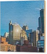 Chicago Cityscape During The Day Wood Print