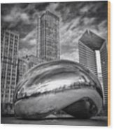 Chicago Bean Cloud Gate HDR Picture Wood Print