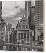Chicago Crosswalk  Wood Print