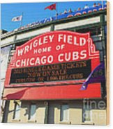 Chicago Cubs Marquee Sign Wood Print