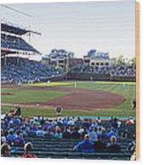 Chicago Cubs Pregame Time Panorama Wood Print