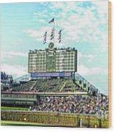 Chicago Cubs Scoreboard 01 Wood Print