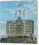 Chicago Cubs Scoreboard 02 Wood Print