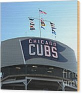 Chicago Cubs Signage Wood Print