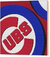 Chicago Cubs Football Wood Print