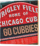 Chicago Cubs Wrigley Field Wood Print
