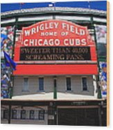 Chicago Cubs - Wrigley Field Wood Print