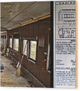 Chicago Eastern Il Rr Business Car Restoration With Blue Print Wood Print