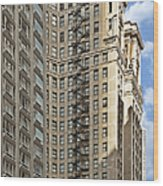 Chicago - Emergency Fire Escape Wood Print by Christine Till