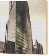Chicago Facade 333 W Wacker Hdr Wood Print