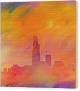 Chicago Fire Wood Print