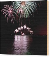 Chicago Fireworks Wood Print
