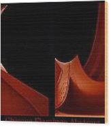 Chicago Flamingo Abstract 2 Panel 02 Wood Print