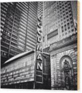 Chicago Goodman Theatre Sign Photo Wood Print