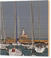 Chicago Harbor Lighthouse Illinois Wood Print by Christine Till