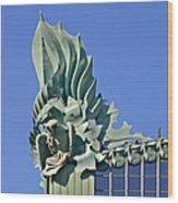 Chicago - Harold Washington Library Wood Print by Christine Till