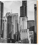 Chicago High Resolution Picture In Black And White Wood Print by Paul Velgos