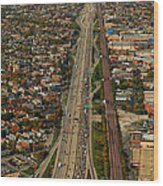 Chicago Highways 01 Wood Print
