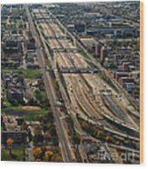 Chicago Highways 02 Wood Print
