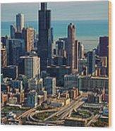 Chicago Highways 05 Wood Print