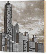 Chicago Illinois No Text Wood Print