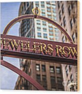 Chicago Jewelers Row Sign  Wood Print