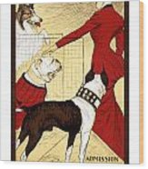 Chicago Kennel Club's Dog Show - Advertising Poster - 1902 Wood Print