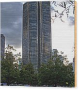 Chicago Lake Point Tower Wood Print