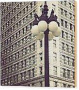 Chicago Lamp Post Wood Print