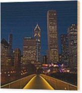 Chicago Lights Wood Print