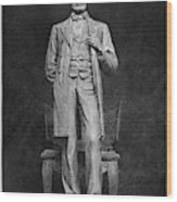 Chicago Lincoln Statue Wood Print