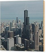 Chicago Looking East 04 Wood Print