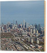 Chicago Looking North 01 Wood Print