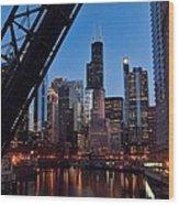 Chicago Loop Wood Print by Jeff Lewis
