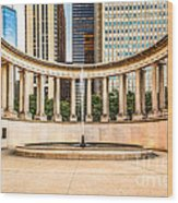 Chicago Millennium Monument In Wrigley Square Wood Print