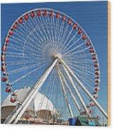 Chicago Navy Pier Ferris Wheel Wood Print