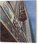 Chicago - Oriental Theatre Wood Print