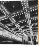 Chicago Oriental Theatre Lights Wood Print