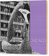 Chicago Pablo Picasso - Violet Wood Print
