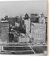Chicago Panorama 1915 Wood Print