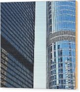 Chicago Photography - Urban Abstract Wood Print