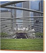 Chicago Pritzker Music Pavillion Triptych 3 Panel Wood Print