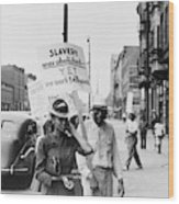 Chicago Protest, 1941 Wood Print