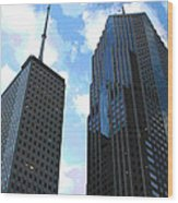 Chicago - Prudential Building Wood Print
