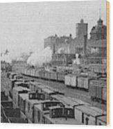 Chicago Railroads, C1893 Wood Print