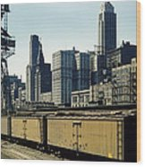 Chicago Railway Freight Terminal - 1943 Wood Print