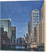 Chicago River Wood Print