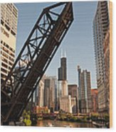 Chicago River Traffic Wood Print