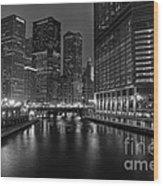 Chicago Riverwalk Wood Print by Eddie Yerkish