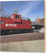 Chicago Rock Island Caboose Wood Print